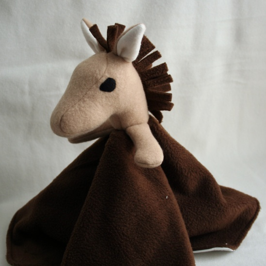 Zebra Lovey Blanket Sewing Pattern (with Horse/unicorn