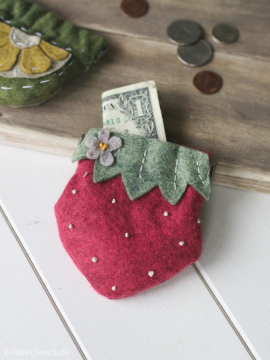 Felt Strawberry Coin Purse By Sara Radiant Home Project