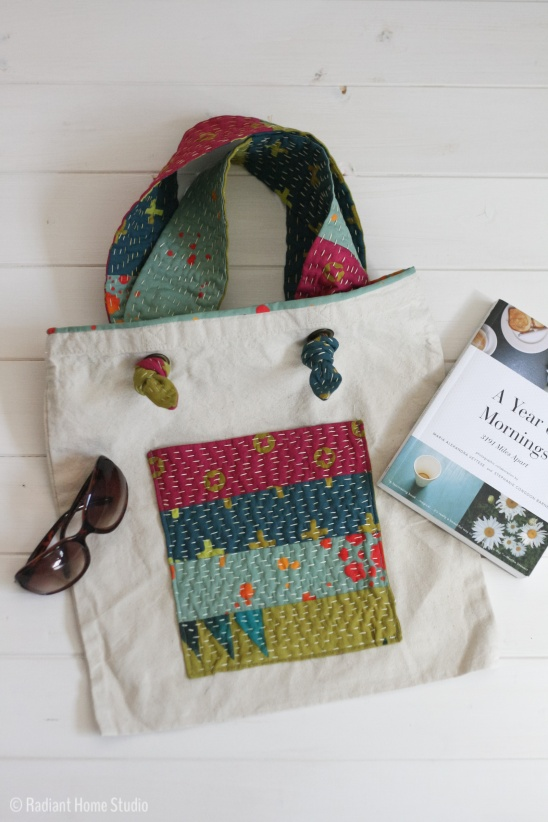 Kantha Stitched Tote Bag By Sara Radiant Home Project Sewing