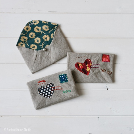 Embroidered Fabric Envelopes By Sara Radiant Home Project