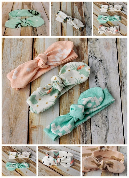 Knot Bow Headband Pattern And Tutorial Easy Diy Headband