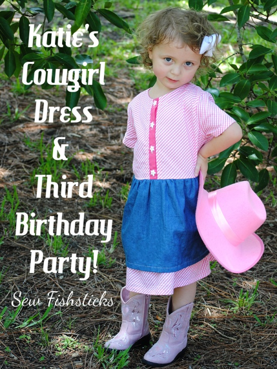 Katies Cowgirl Birthday Dress By Bonnie Sew Fishsticks