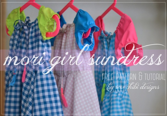 Blogged About Here Www Sewchibi Com 2015 06 Mori Girl Sundress Pattern Tutorial For