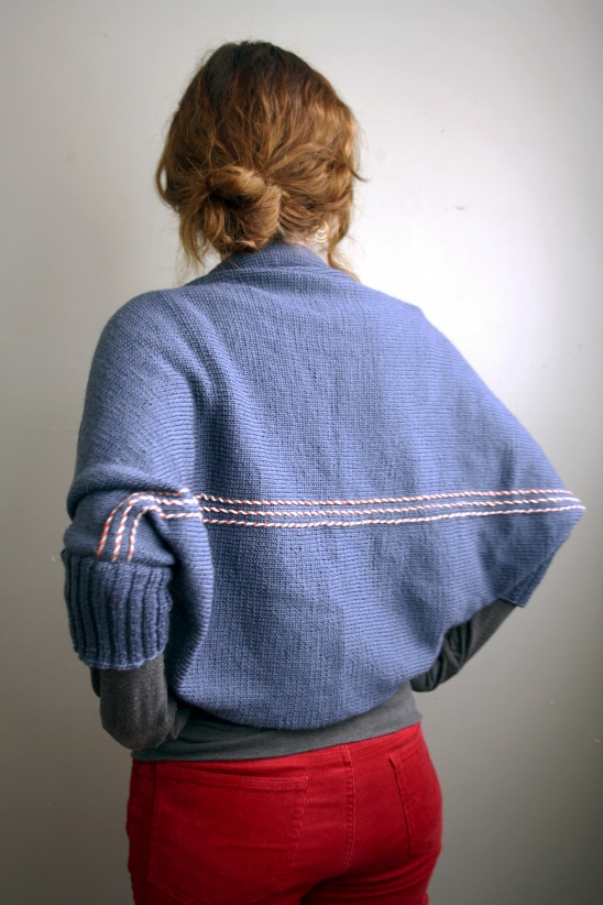Blue Rectangle Shrug by Zoe May | Project | Knitting