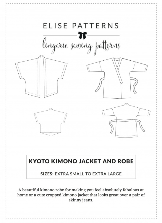 Kyoto Kimono Jacket And Robe Supply Patterns Kollabora Extraordinary Kimono Sewing Pattern