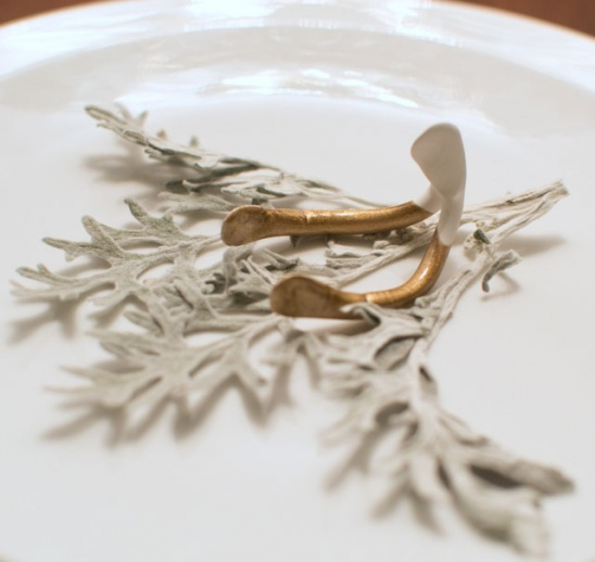 Gold Dipped Wishbone Place Card Holders By Sarah