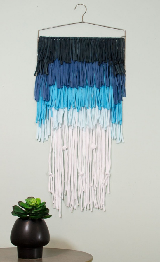 Create A Piece Of Modern Wall Art Using Tie Dye And T Shirts