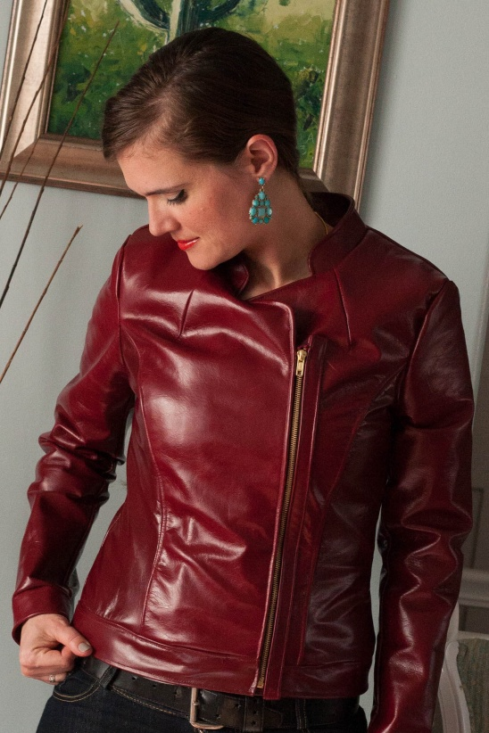 Asymmetrical Leather Jacket By Sabra Project Sewing Outerwear