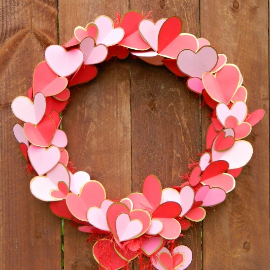 valentine wreaths for your front doorGilded Hearts Valentine Wreath by Mark Montano  Project  Home