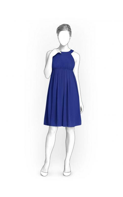 Lekala 5900 - Dress Sewing Pattern Made to Measure, Royalty Free for ...