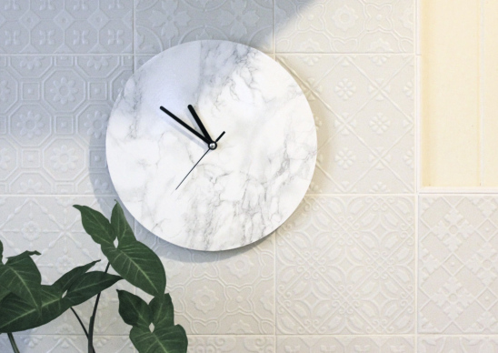 Iu0027m Loving The Current Marble Trend And Have Been After A Marble Clock For  A While   Whether Bought Or DIYed. But Iu0027m A Bit Hesitant To Have A Hunk Of  ...