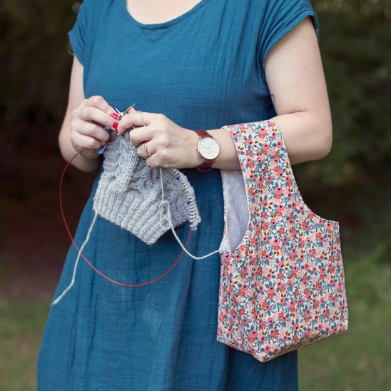Rifle Paper Knitting Bag By Clara Falk Project Sewing