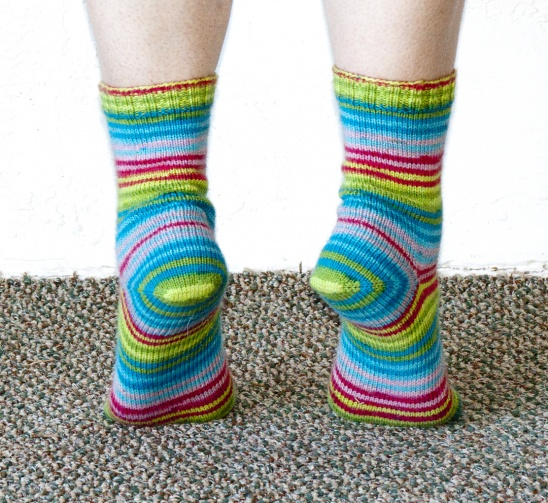 Knitting Supplies Singapore : Meadow stripes socks by show and tell meg project