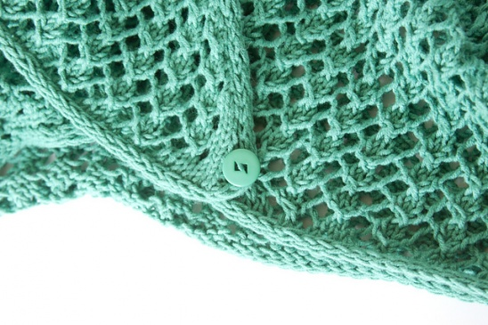8b869b06a42 This was my sweater portion for my Outfit Along 2017 entry  ) I made Andi s  new Anaheim cardi with Bernat Cotton-ish yarn in Jade Jersey and I love it!
