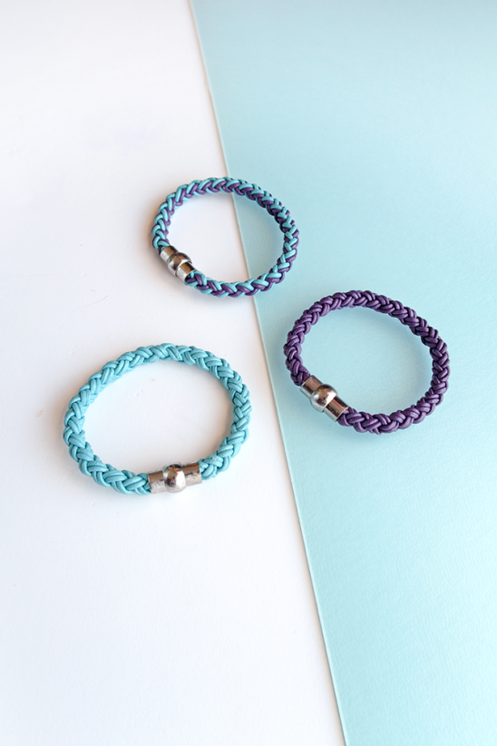 Diy Round Braid Leather Bracelets By Curly Made Project