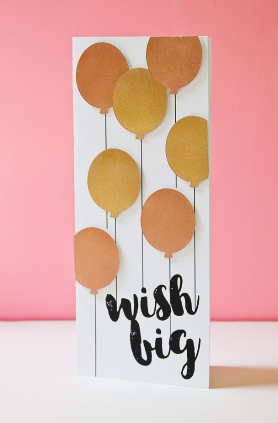 Metallic Balloons Birthday Card By Paper Crave Project