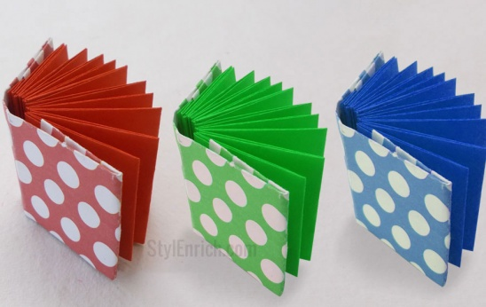 Diy Project Ideahow To Make Origami Mini Notebook By Ananvita