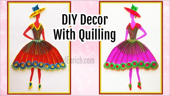 DIY Quilling wall Decor: How to Make Quilling Princess Wall Frame by ...