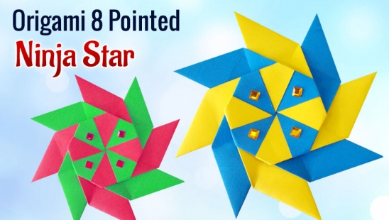 Origami Ninja Star Tutorial - Shuriken - Paper Kawaii - YouTube | 310x548