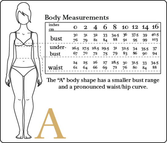 Misses' Body Measurements (in inches) Size: XS: S: M: L: XL: 4: 6: 8: Bust: 33 1 /2: 34 1 /2: 35 1 /2: 36 1 /2: 39 1 /2: