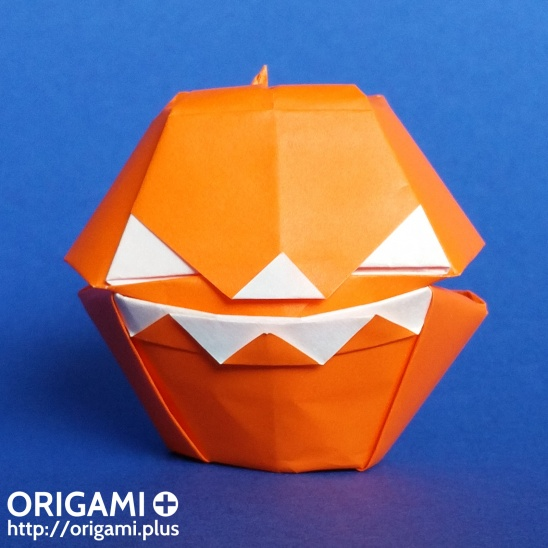 Halloween Pumpkin Origami Box By Origami Plus Project Papercraft