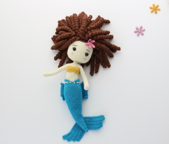 Dia & Mia Mermaid in Red Heart Amigurumi - LM6286 - Downloadable ... | 466x548
