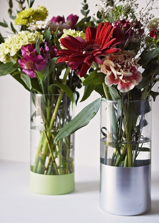 Diy Spray Painted Dollar Store Vase By Lori Fortini Project Home