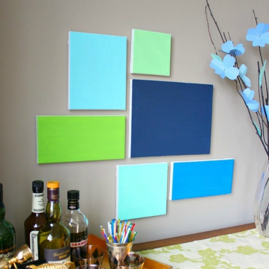 DIY Canvas Wall Art by Haeley Giambalvo // Design Improvised ...