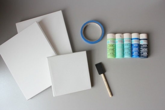 Diy canvas wall art by haeley giambalvo design improvised plain canvases in a variety of shapes and sizes there are different levels of quality buy the cheapest and try to get them on sale solutioingenieria Image collections