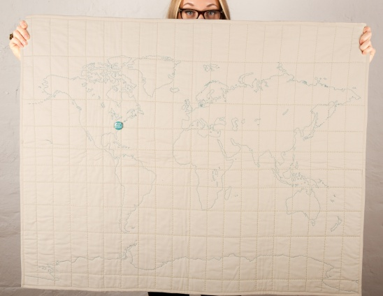 DIY World Map Soft Quilt by Haptic Lab | Project | Sewing | Quilting ...