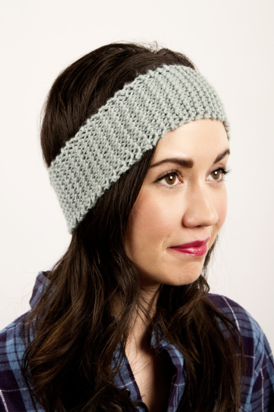 Knitted Headbands Pattern : Newbie Knitted Headband by Kollabora Project Knitting / Hats Kollabora