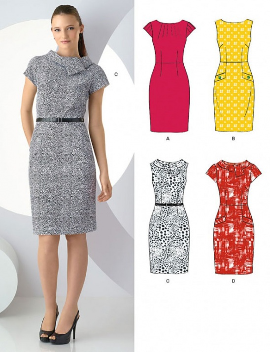 New Look Misses' Pencil Dress by Simplicity Patterns Project Magnificent Simplicity Patterns Dresses