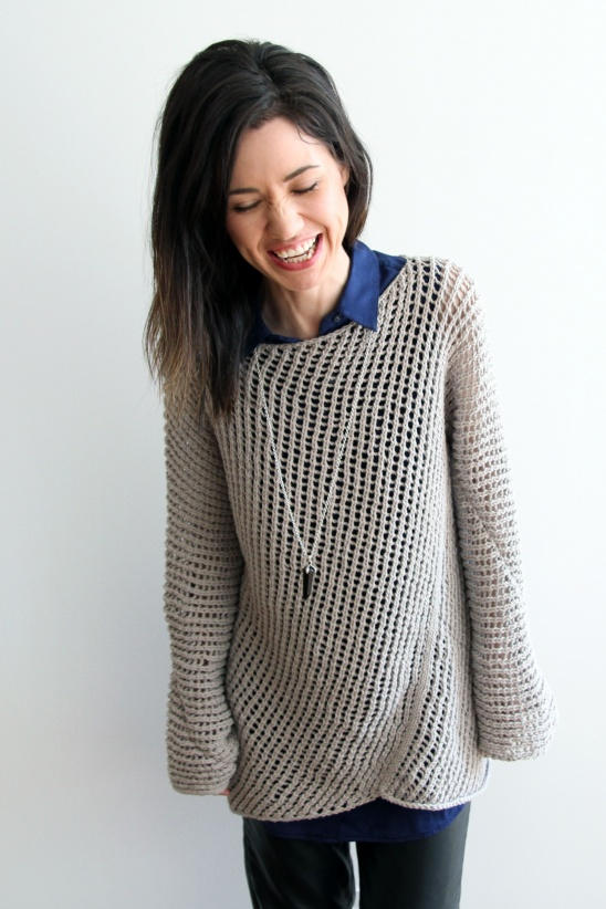 Knitting Pattern For Elvis Jumper : Diagonal Mesh Pullover by Lion Brand Project Knitting / Shirts, Tanks, &a...