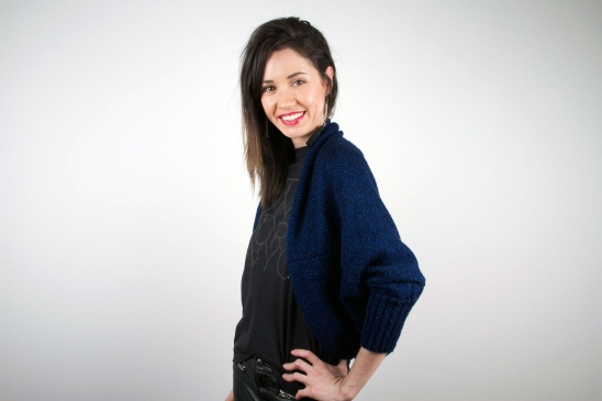 Glittering Rectangle Knit Shrug by Lion Brand | Project