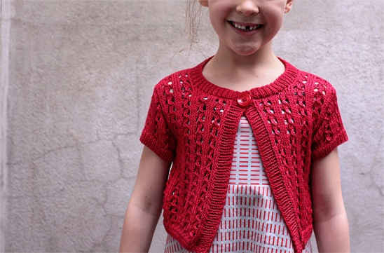 Knitting Jacket For Girl : Red lace cardigan by jorth project knitting cardigans