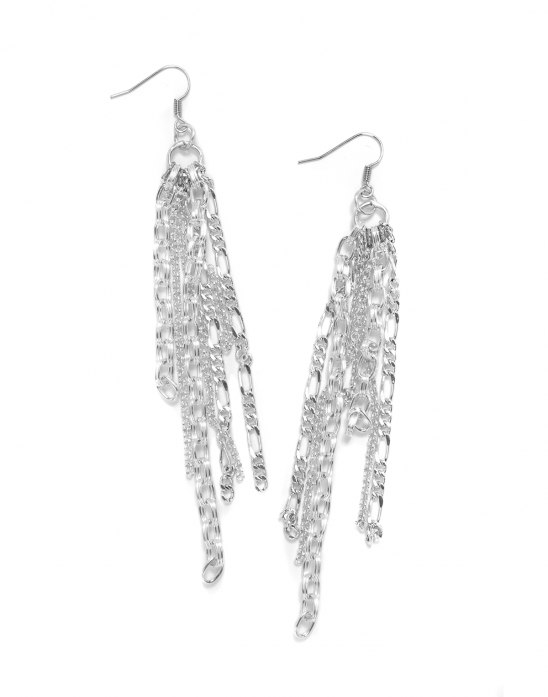 Varied Chain Dangle Earrings By Kollabora Project Jewelry
