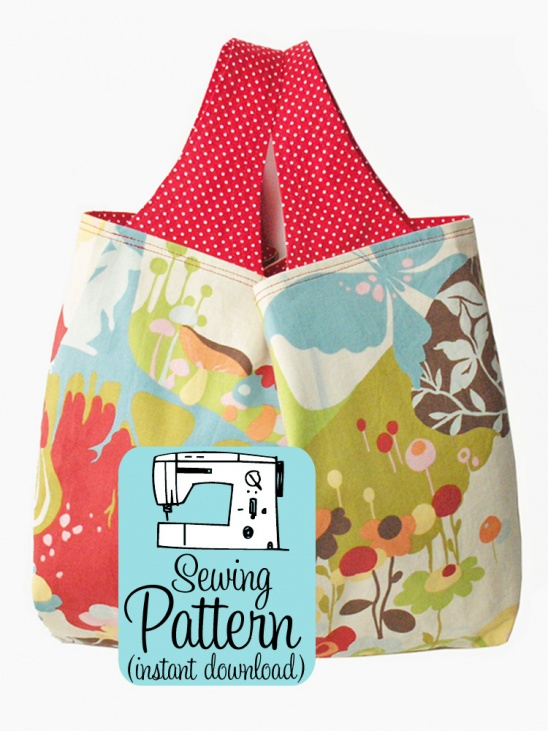 Grocery Bag PDF Sewing Pattern | Supply | Patterns | Kollabora