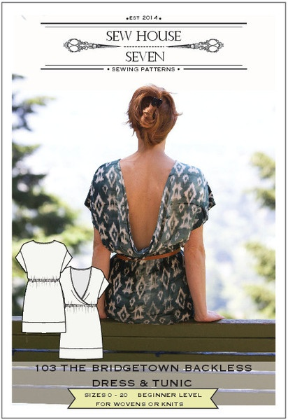 The Bridgetown Backless Dress & Tunic Sewing Pattern PDF $14 or ...