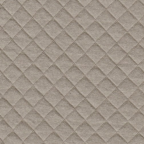 Knitting Terminology M1 : Quilted jersey in taupe supply fabric kollabora