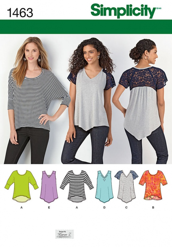 Simplicity Pattern For Misses Knit Tops Supply Patterns Kollabora