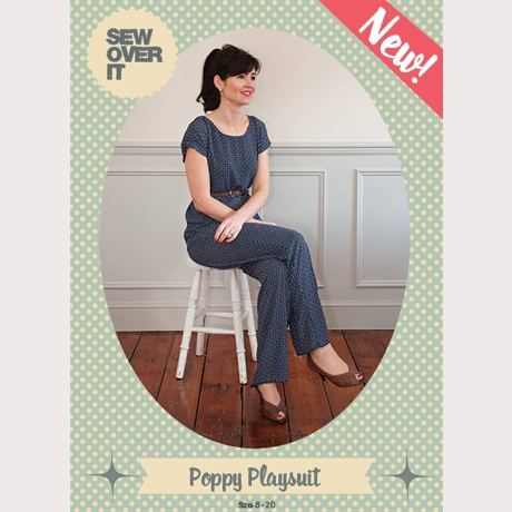 Poppy Playsuit PDF Sewing Pattern - Sew Over It | Supply | Patterns ...