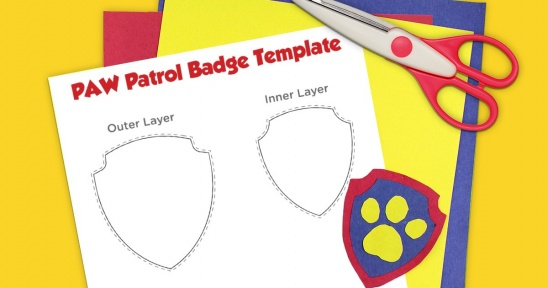 Paw Patrol Printable Badge Template Supply Patterns