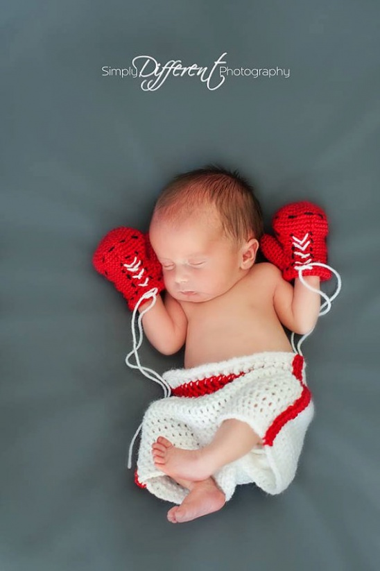 Pattern Instant Download Preemie 6 Months Baby Boxer Gloves And