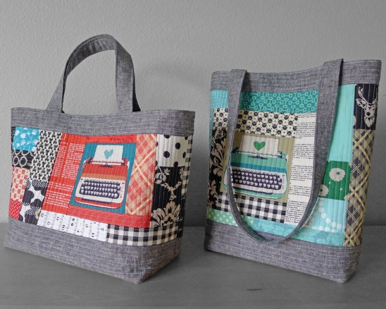 Perfect Quilted Tote Pattern by Elizabeth Hartman | Supply ... : quilted bags and totes patterns - Adamdwight.com