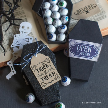 diy paper coffin for halloween by lia griffith project