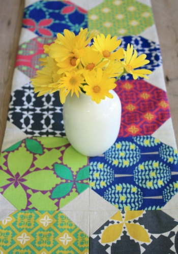 Folk Modern Table Runner by The Long Thread | Project | Quilting | Sewing / Coasters & Tableware