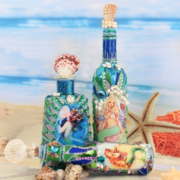 Mermaid Bottles By Mark Montano Project Home Decor