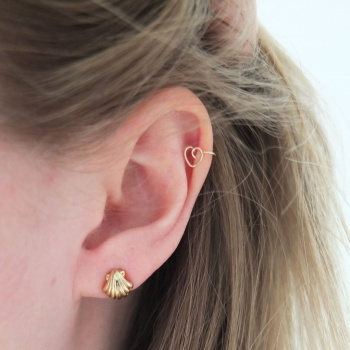 Diy Gold Cartilage Earring By Tracing Threads Project