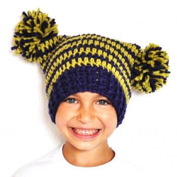 The Crochet Pompom Square Hat By Mamma Diy Project Crochet